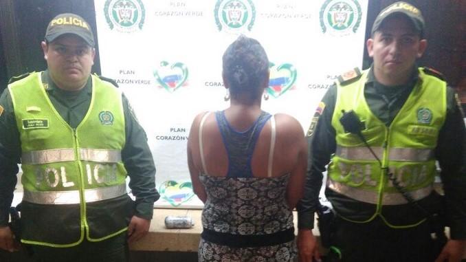 Mujer capturada en el 20 de Julio.