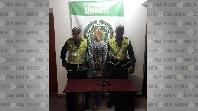 Capturada por porte ilegal de armas en Aranjuez.