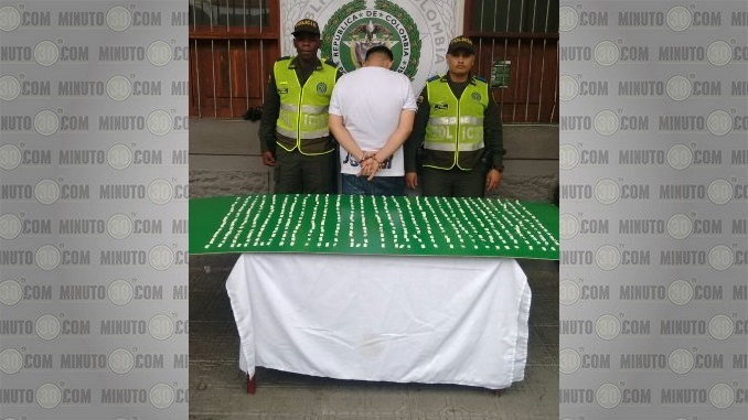 Capturado con base de cocaína en el centro de Medellín.