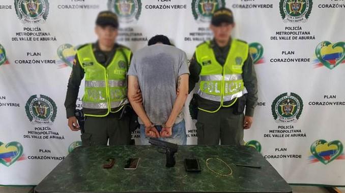 Capturado tras persecución en Itagüí.