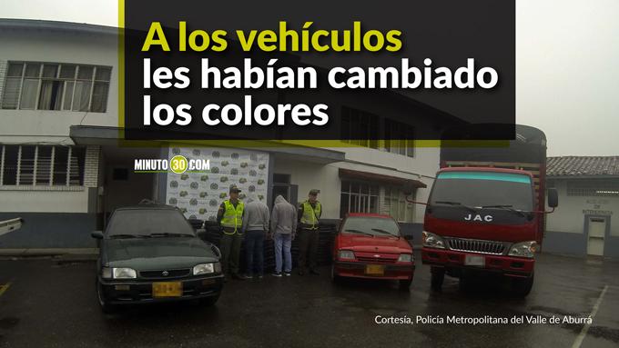Carros recuperados y capturados en Copacabana.