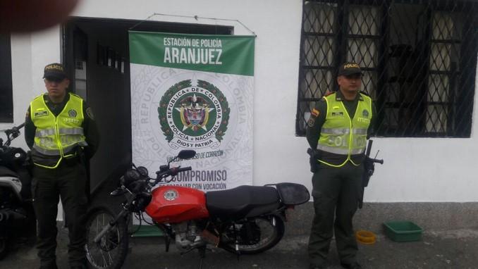 Moto recuperada en Aranjuez.