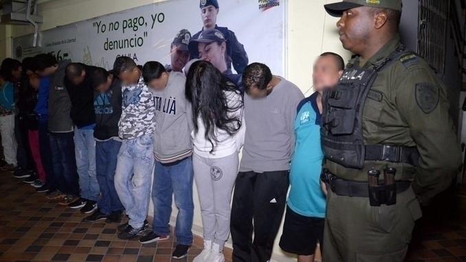 Capturados de la banda 'El Guayabo'.