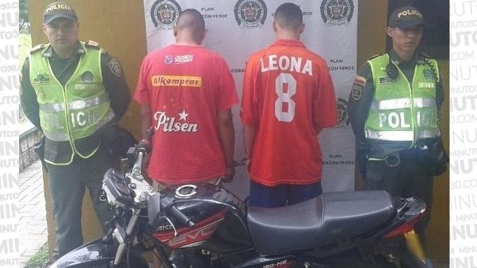 Capturados por robo de moto en San Javier.