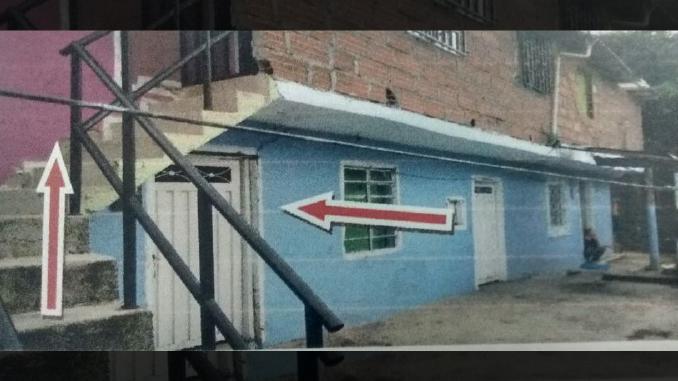 Vivienda donde un hombre asesinó a su vecino en Barbosa