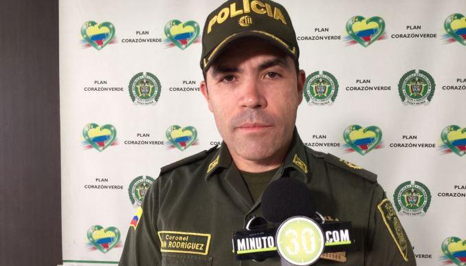 Coronel Juan Carlos Rodríguez Acosta, subcomandante de la Policía Metropolitana.