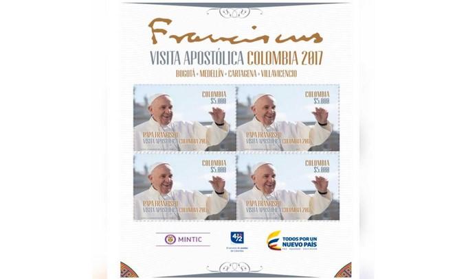 Ya están en circulación 38.000 estampillas en homenaje a la visita del papa Francisco