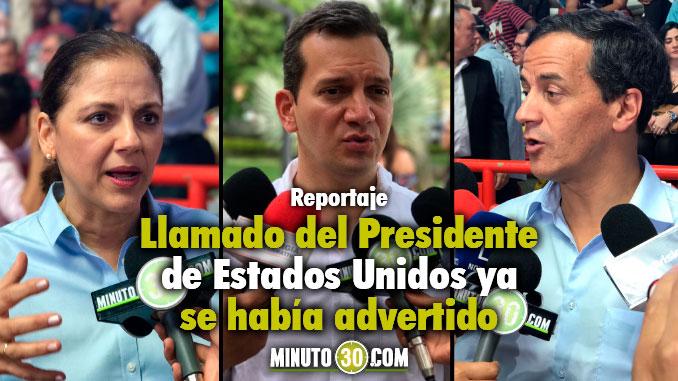 Alfredo Ramos - Senador , María del Rosario Guerra y Rafael Nieto Precandidatos a la Presidencia. Foto/Minuto30