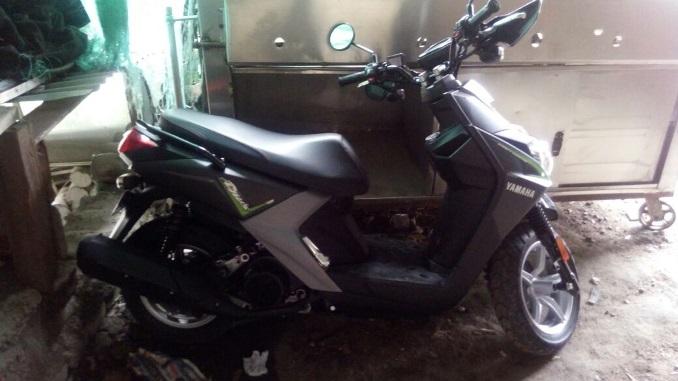 Moto recuperada por la policía