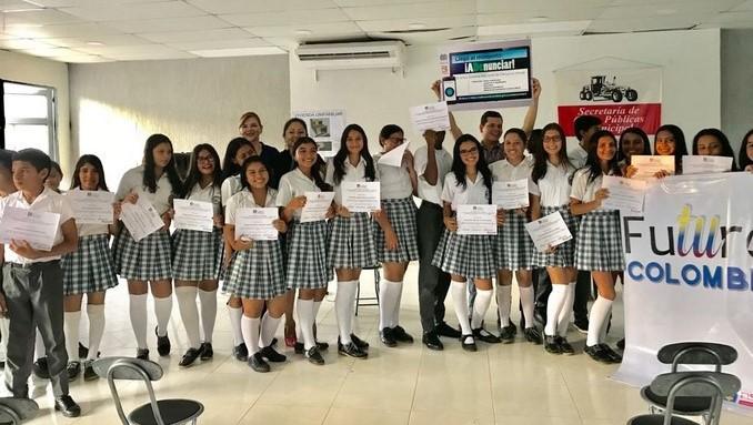 Estudiantes en San José del Guaviare se certifican como gestores en prevención del delito