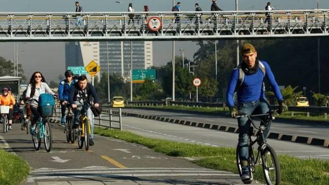 día sin carro en Bogotá, bicicletas