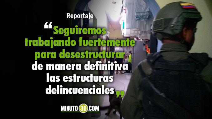 Fuerte golpe a estructura delincuencial La 24 de Barrio Antioquia