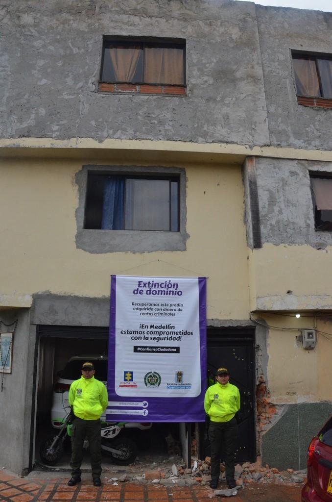 En Barrio Antioquia 39 bienes fueron objeto de extinción de dominio