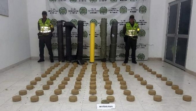 Marihuana en rollos de plastico