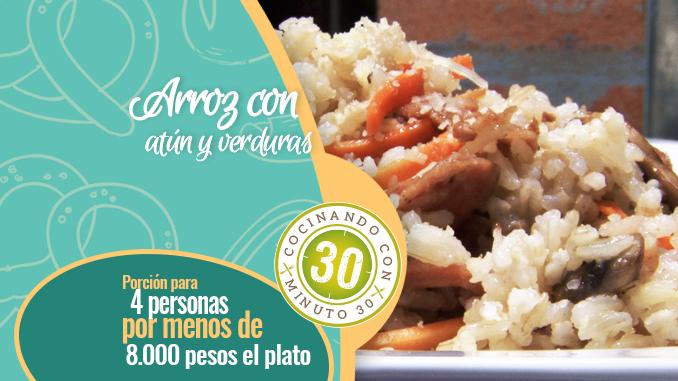 Portada destacada cocina arroz con atun y verduras