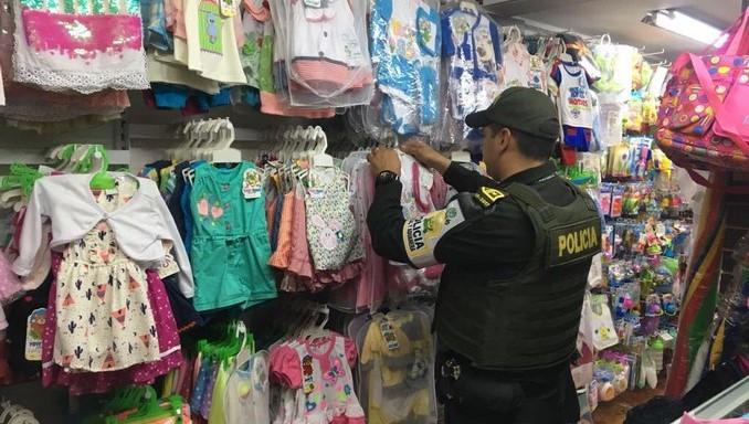 mercancía contrabando, ropa