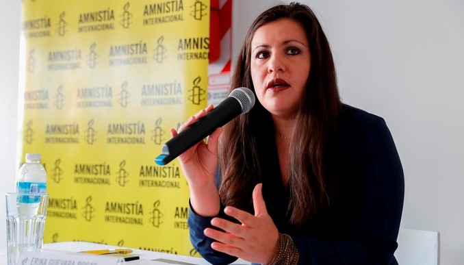 la directora para las Américas de AmnistíaInternacional, Erika Guevara Rosas