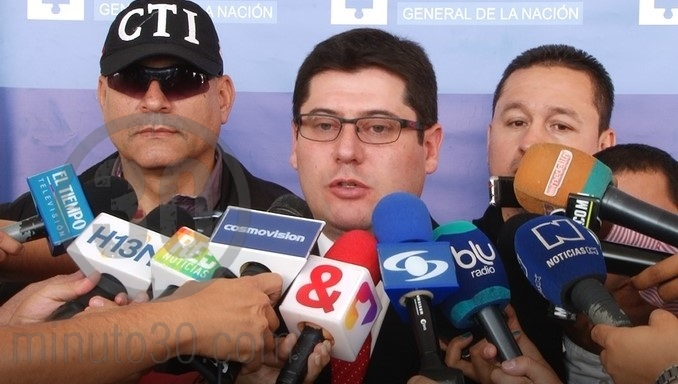 El director seccional de Fiscalías Medellín, Raúl González Flechas