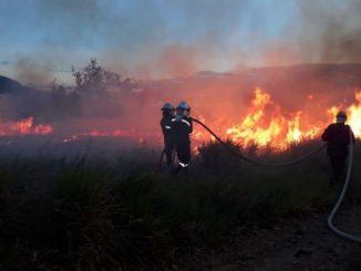 Siguen las labores para controlar el incendio forestal en Nilo, Cundinamarca