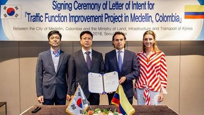 Medellín recibirá de Corea del Sur recursos para movilidad inteligente