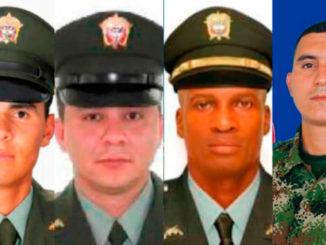 Ellos son los tres policías y el soldado secuestrados, al parecer, por el Eln en el Chocó