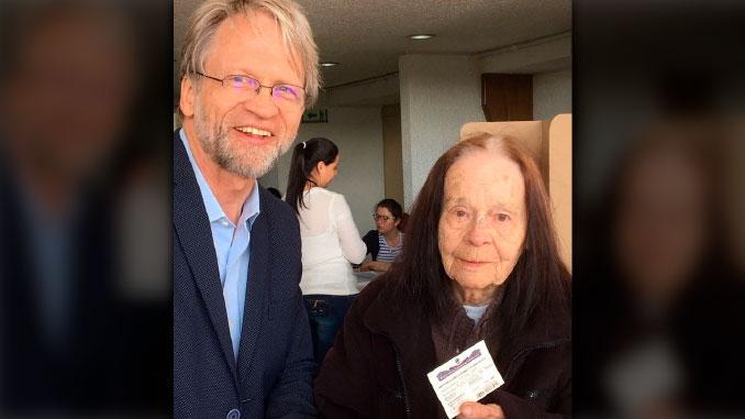 Ella era Nijole Sivickas, la madre de Antanas Mockus quien falleció este jueves