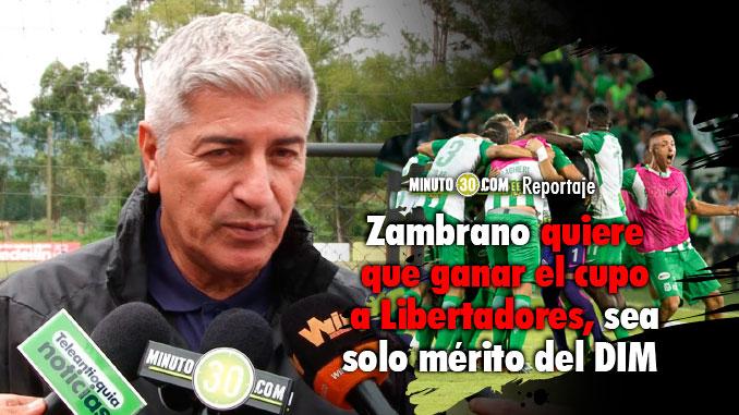 Entrenador de Medellin felicito a Nacional por el titulo de la Copa Aguila