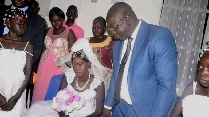 Nyalong Ngong Deng en su boda/Cortesía