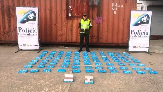 Mercancía de contrabando incautada en Medellín