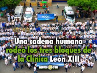 Trabajadores 'abrazaron' la IPS Universitaria en Medellín como apoyo ante la emergencia hospitalaria