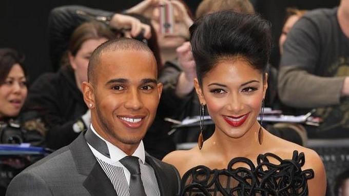 Lewis Hamilton y Nicole Scherzinger. EFE