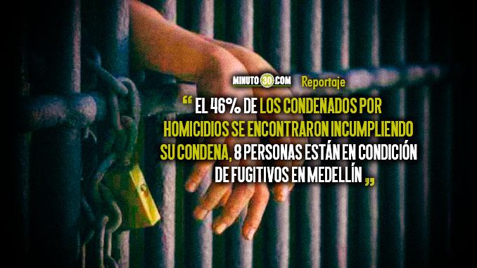 Fugitivos e incumplimiento de casa por carcel preocupa a las autoridades de Medellin