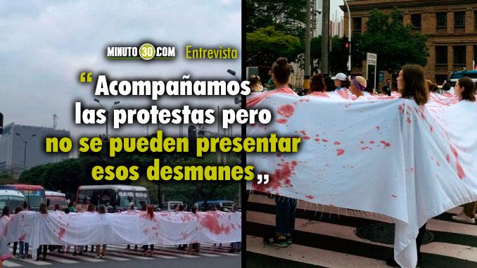 Policia llama la atencion a la ciudadanía por danos durante protesta del dia de la mujer