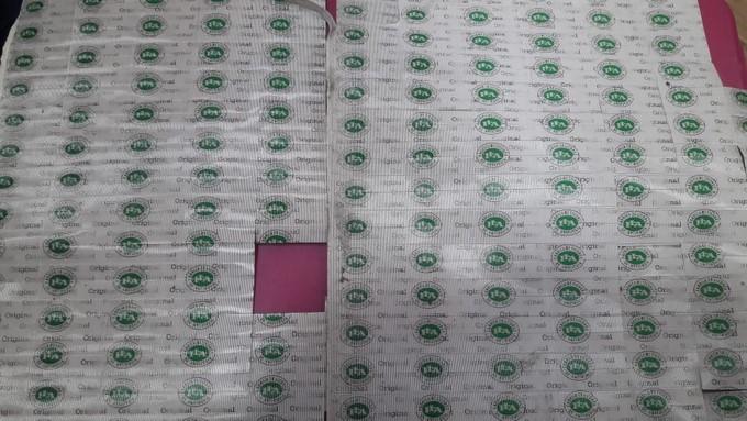 Autoridades incautaron estampillas sellos de seguridad y cigarrillos de contrabando en Bello 2