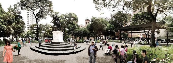 Parque Bolivar de Medellin rediseno