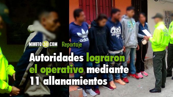 Capturan a 12 integrantes de los grupos delincuenciales Los Chatas y El Mesa