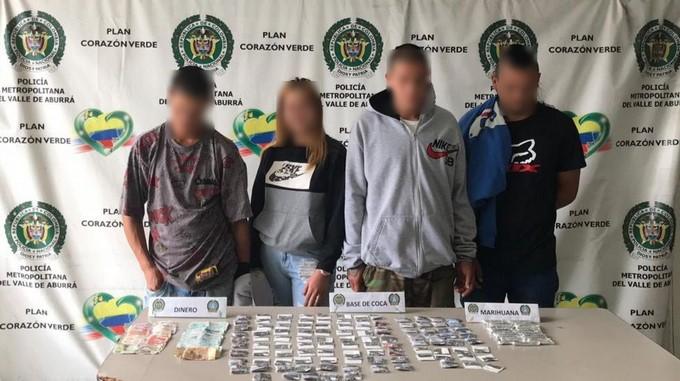 4 personas capturadas en Caldas