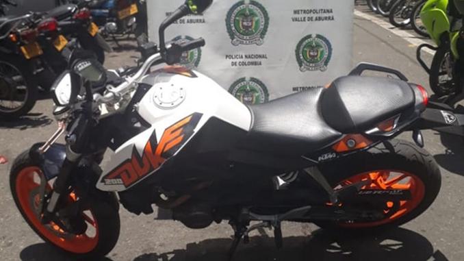 Moto recuperada en Copacabana