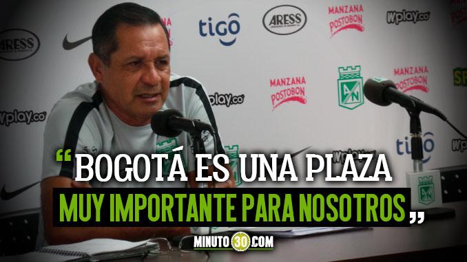 Pompilio Paez ante el reto de avanzar en la Copa aguila con Atletico Nacional