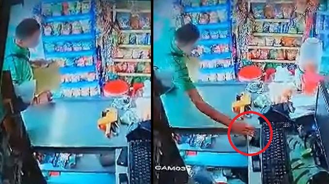 Robo de celular en supermercado de Manrique Guadalupe