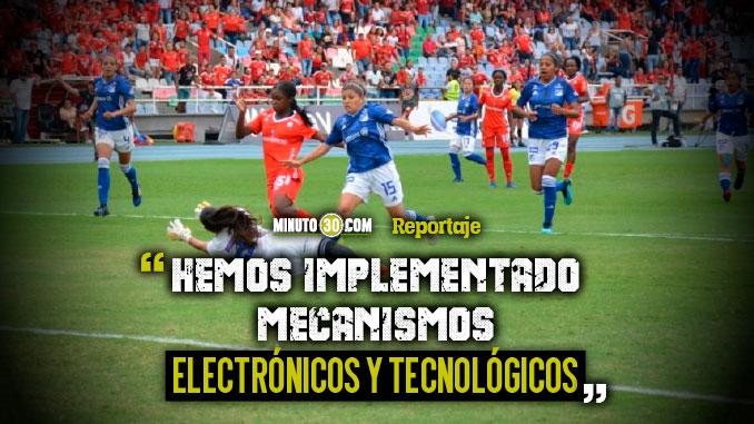 Dispositivo de seguridad para el partido de futbol femenino en Medellin