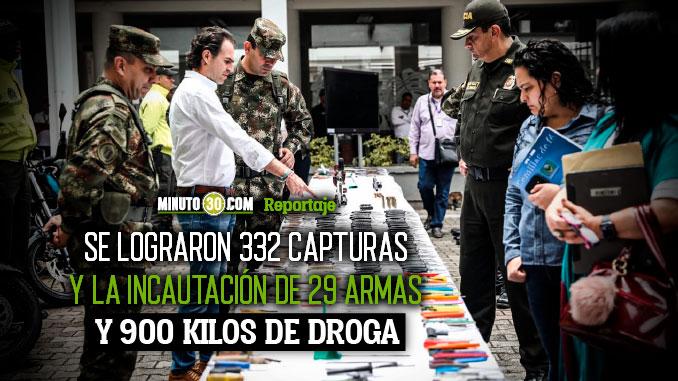 Fuerte golpe al delito en Medellin dejo importantes resultados en la ultima semana