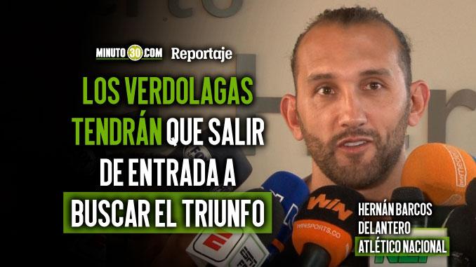 Hernan Barcos siente que Nacional tiene con que superar futbolisticamente al Pijao