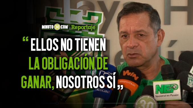 Nacional sale atacar a cualquier rival y lo va hacer frente a Tolima Pompilio Paez