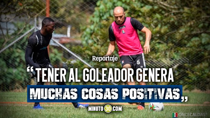 Recuperación de David Lemos motiva al Once Caldas de cara a partido con Medellin