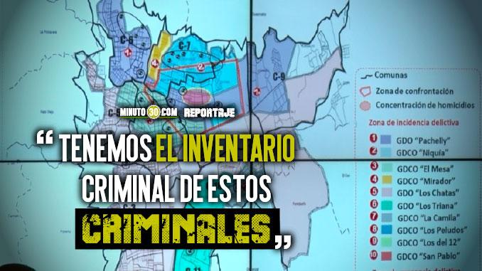 Se conocio el mapa de influencia de grupos delincuenciales en Bello