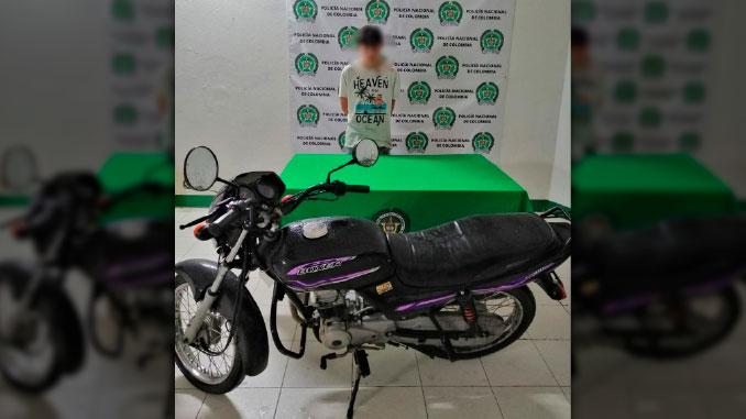 capturado en el puente del mico con una motocicleta que habria sido robada en la madrugada