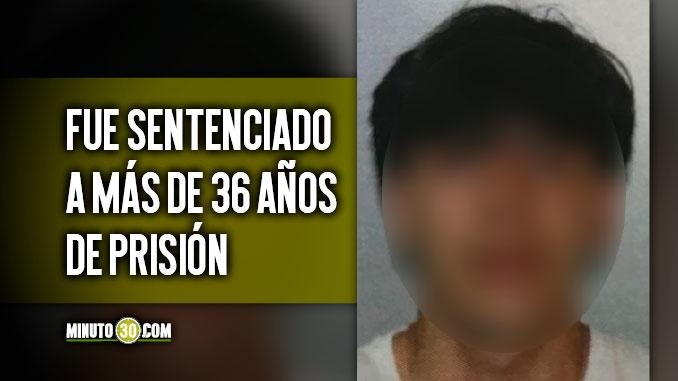 Condenado a mas de 36 anos de prision por ataque armado que dejo un muerto y dos heridos en el centro de Medellin