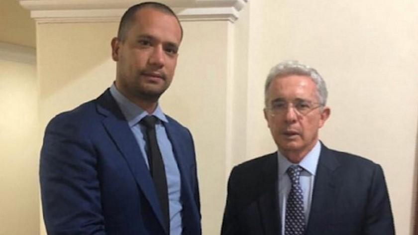 Diego Cadena y el expresidente Alvaro Uribe Velez 1