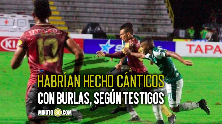 Encontron entre jugadores del Deportivo Cali y Deportes Tolima